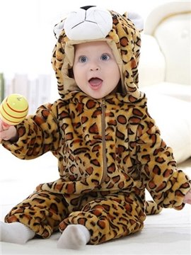 Lovely Super Soft Cartoon Leopard Design Baby Costume