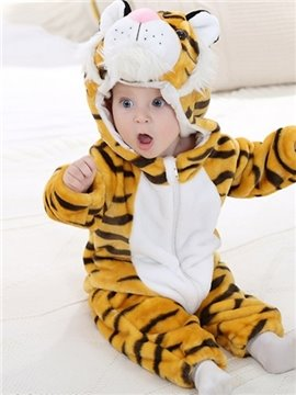 Cute Super Soft Cartoon Tiger Design Baby Costume