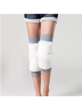 Warmly Elastic Grey Wooden Kneecap
