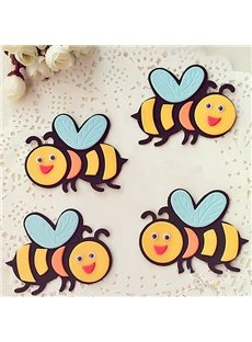 Lovely Cartoon Bee Pattern Nursery Removable Wall Sticker