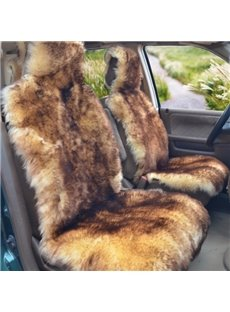 Real Plush Winter Super Warm Special Color Mixing Universal Car Seat Cover