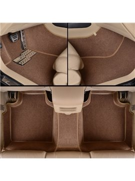 Fashion Brown Unique Edge Design All Surrounded Custom-Made Car Carpet