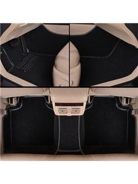 Classic Black High-Grade PVC Leather And Velvet Material Custom-Made Car Carpet