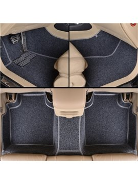 Fashion Unique Style Design PVC And Velvet Mixed Custom-Fit Car Carpet