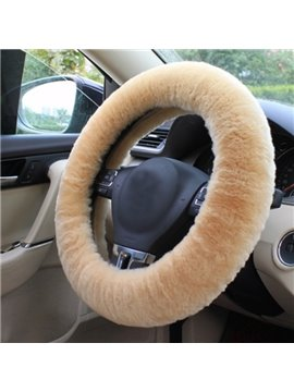 Winter High Cost Effective Wool Warm Material Colorful Fashion Design Car Steering Wheel Cover