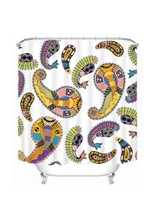 European Decorative Pattern Printing Bathroom 3D Shower Curtain