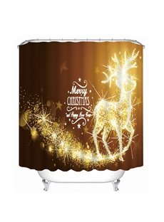 Dreamy Reindeer Merry Christmas Printing Bathroom 3D Shower Curtain