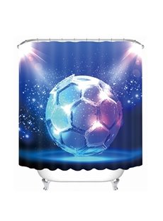 Magic Dreamy Soccer Printing Bathroom 3D Shower Curtain
