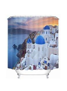 Beautiful Greece Aegean Sea Town Printing Bathroom 3D Shower Curtain