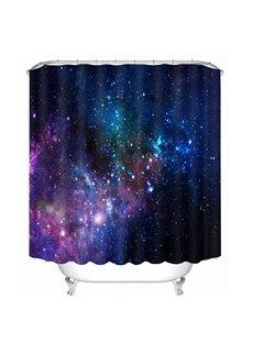 Starry Sky Galaxy Theme Printing Bathroom 3D Shower Curtain