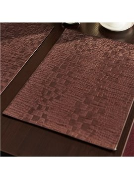Luxury Crocodile Grain Pattern Stain Resistant Fastness Dining Room Decoration Table Placemat