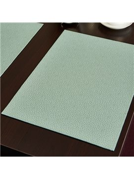 Simple Style Pure Color Polyurethane Stain Resistant Decorative Placemat
