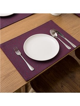 Heat Resistant Fabric Pure Color Non-slip Insulation Washable Table Placemat