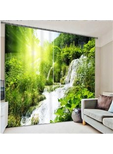 Nature Scenery Waterfall in the Sun Printing 3D Curtain