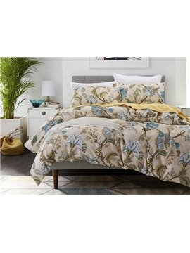 Splendid Jacobean Print 4-Piece Cotton Duvet Cover Sets