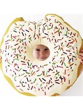 Super Cute Vivid Cartoon Gap Doughnut Design Throw Pillow