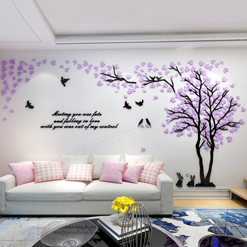 lovely creative design acrylic beautiful tree and birds