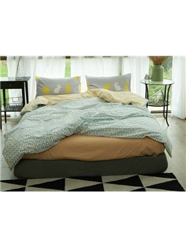 Fabulous Geometric Reversible 4-Piece Cotton Duvet Cover Sets
