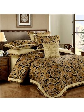 Luxury Moroccan Style 100% Egyptian Cotton 4-Piece Duvet Cover Sets