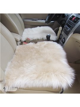 Super Comfortable And Soft Warm Wool Winter Single Car Seat Mat