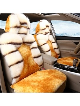 Large Plush With Attractive Pattern Design Fashion Winter Warm Universal Car Seat Cover