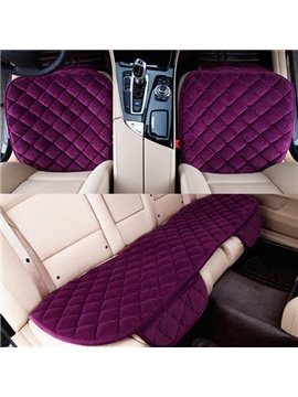 Charming Purple Color Design High Grade 3-Pairs Car Seat Mat