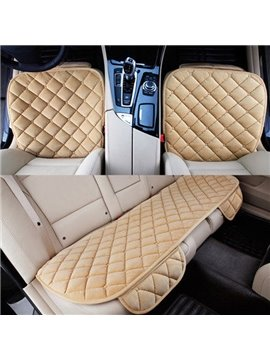 High Grade Grid Style Fashion Anti-Dust And Skid 3-Pairs Car Seat Mat