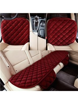 Bright Red Color Grid Style Easy Install Car Seat Mat