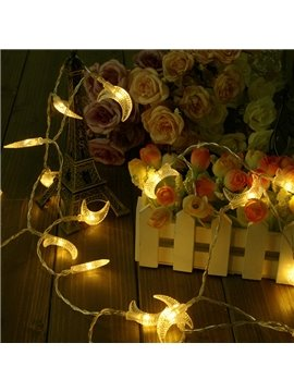 Cute 13 Feet 40 Lights Moon Shape USB Christmas Decorative LED String Lights