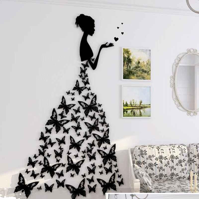 Modern Fashion Acrylic Pretty Butterflies Girl Design Home ...