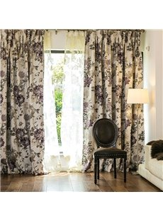 Rustic Peony Jacquard Custom Thermal Blackout Curtain