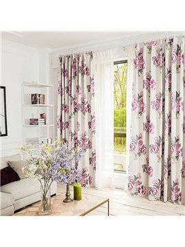 European Style Peony Jacquard Thermal Custom Curtain