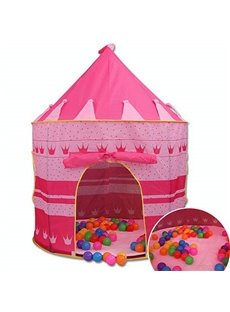 Princess Castle Design Circle Two Colors for Choose Kids Indoor Tent