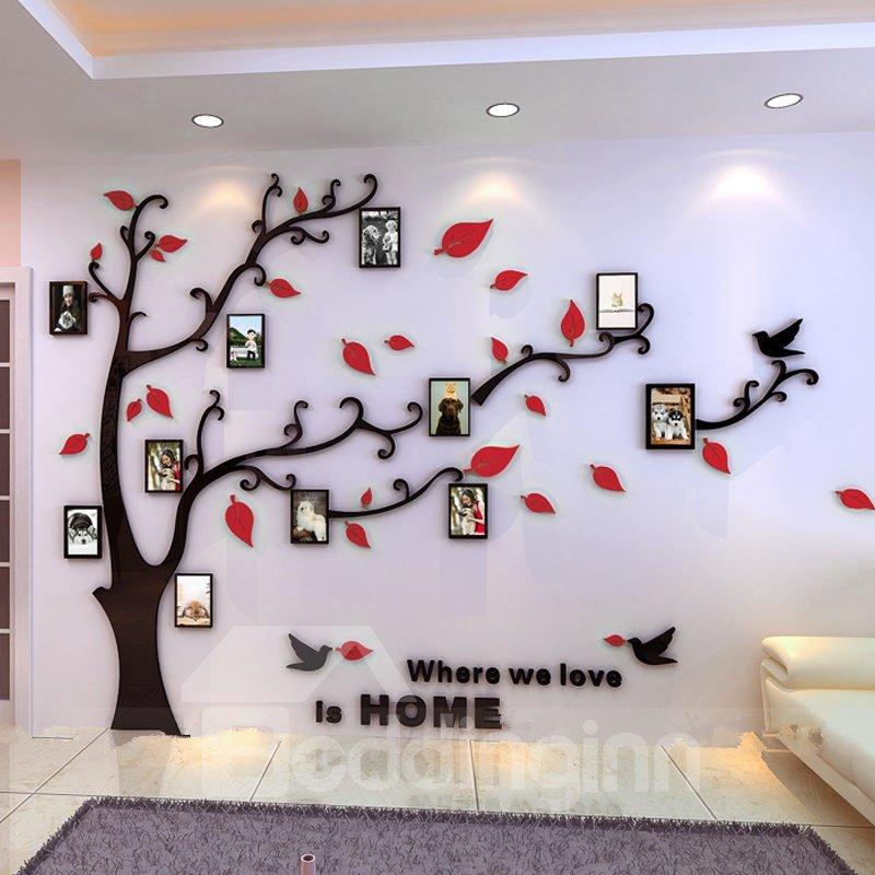 creative acrylic tree photo frame waterproof three