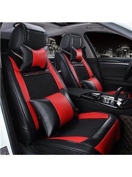 New Durable PU Leather With Cool Ice Silk Material Popular Universal Car Seat Cover