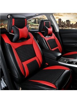 Super Luxury Attractive Contrast Color Design With Mixing Material Universal Car Seat Cover