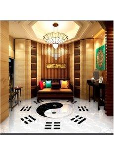 Fancy Unique Design Tai Chi Pattern Decorative Waterproof Splicing 3D Floor Murals