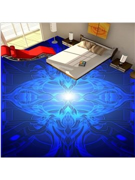 Bright Blue Creative Design Pattern Waterproof Splicing 3D Floor Murals