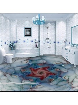 Modern Creative Abstract Pattern Decorative Healthy Splicing 3D Floor Murals