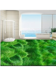 Awesome Waving Grass land Bathroom Decoration Waterproof 3D Floor Murals
