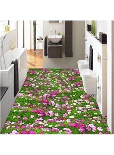 Gorgeous Flowers Field Design Home Decorative Splicing Waterproof 3D Floor Murals