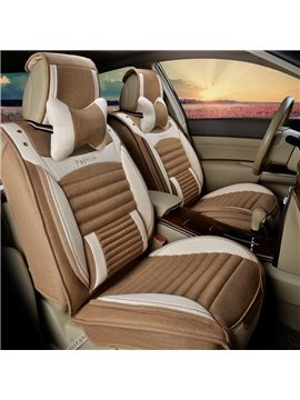 New 3D Stereoscopic Style Design With Breathable Flax Material Universal Car Seat Cover