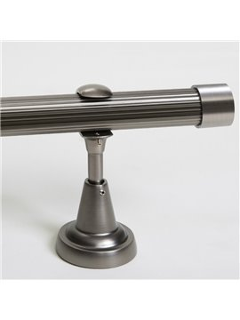 Classical Silvery Color End Cap Single Window Treatment Rod Set