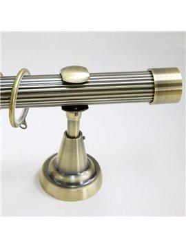 Classical Golden Color End Cap Single Window Treatment Rod Set
