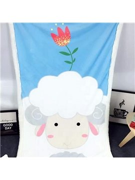 Super Cute Sheep Pattern Comfortable Baby Blanket