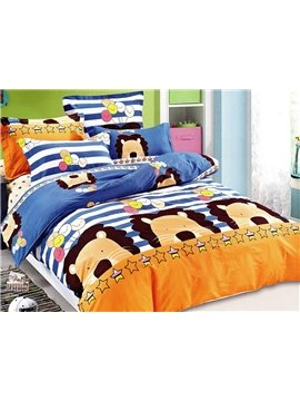 Lovely King of Forest Print 3-Piece Cotton Duvet Cover Sets