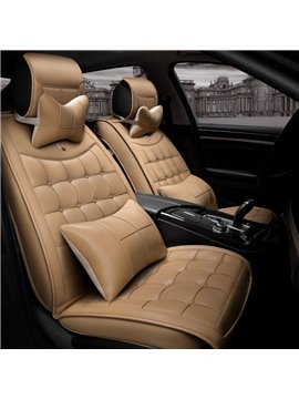 Textured Durable PVC Leather Super Cozy Luxury Universal Car Seat Cover