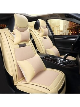New Fashion Mixing Leather Material Durable Universal Car Seat Cover