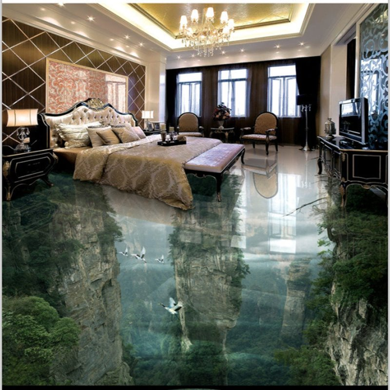 Transparent Vivid Natural Mountain Scenery Home Decorative ...