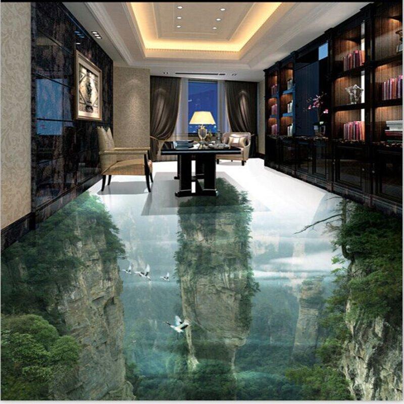 Transparent Vivid Natural Mountain Scenery Home Decorative